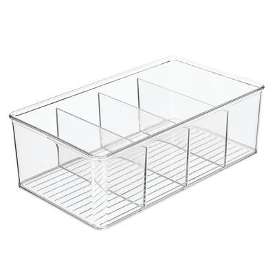mDesign Plastic Office Storage Organizer Bin Box - 4 Pack, Clear