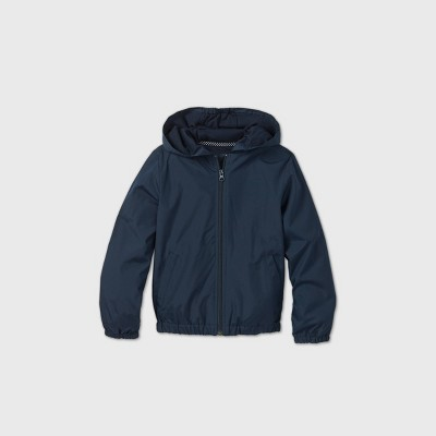 Girls' Uniform Windbreaker Jacket - Cat & Jack™ Navy