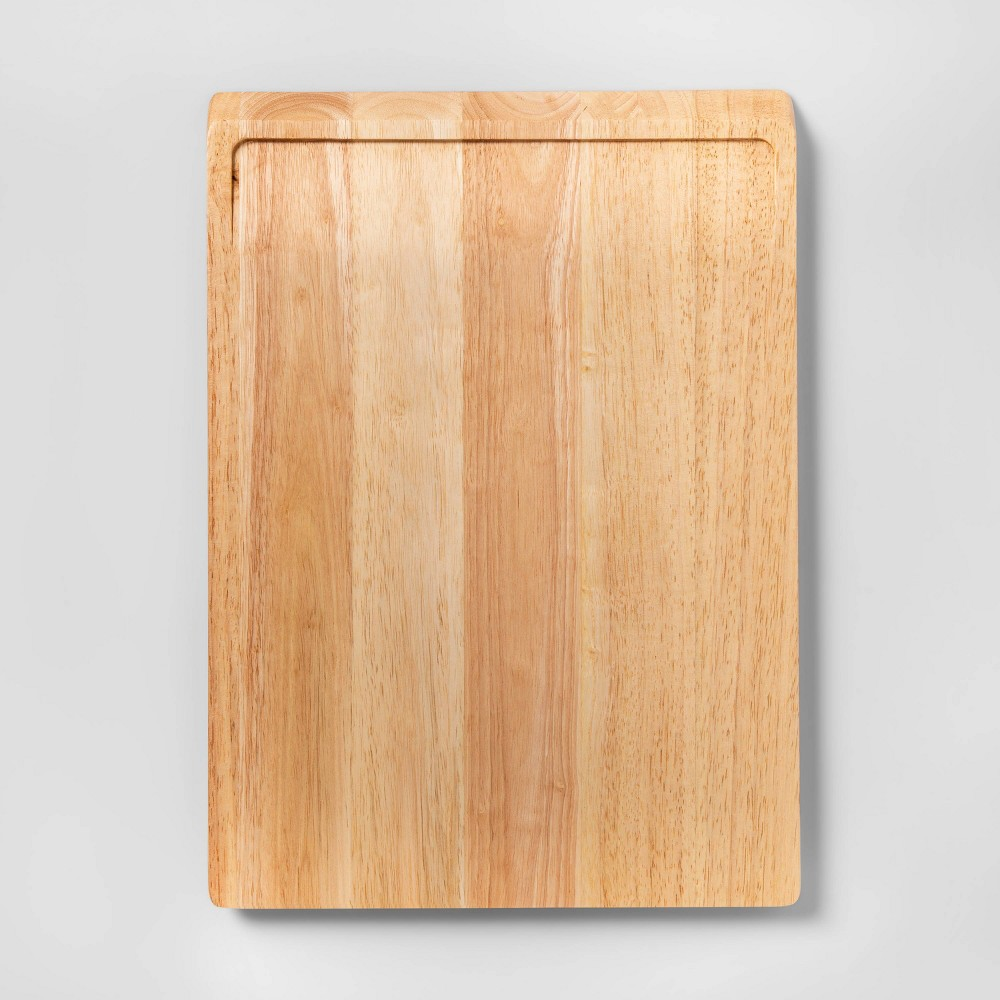 "Image of ""13""""x18"""" Rubberwood Carving Board - Made By Design , Brown"""