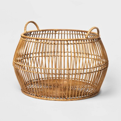 Round Modern Bulging Basket Light Stain - Project 62™