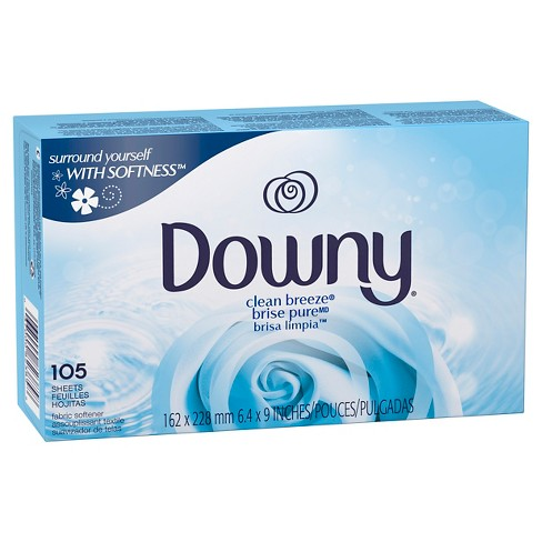 Downy Clean Breeze Fabric Softener Dryer sheets 105ct - image 1 of 3