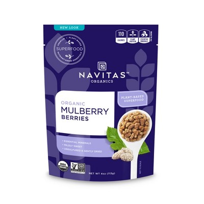 Dried Fruit & Raisins: Navitas Organics Mulberries