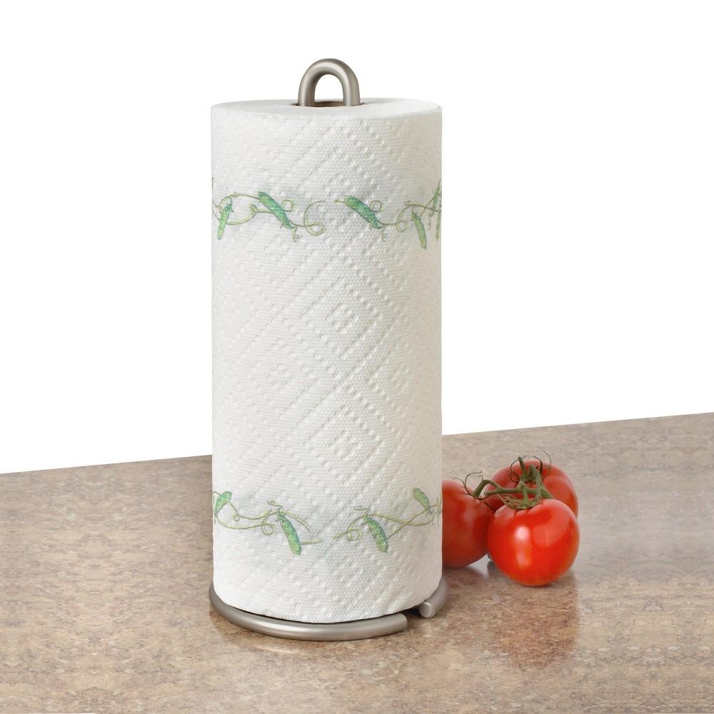 Euro Paper Towel Holder - Satin Nickel