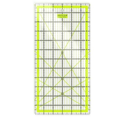 "Arteza Acrylic Quilt Ruler, 6"" x 12"""
