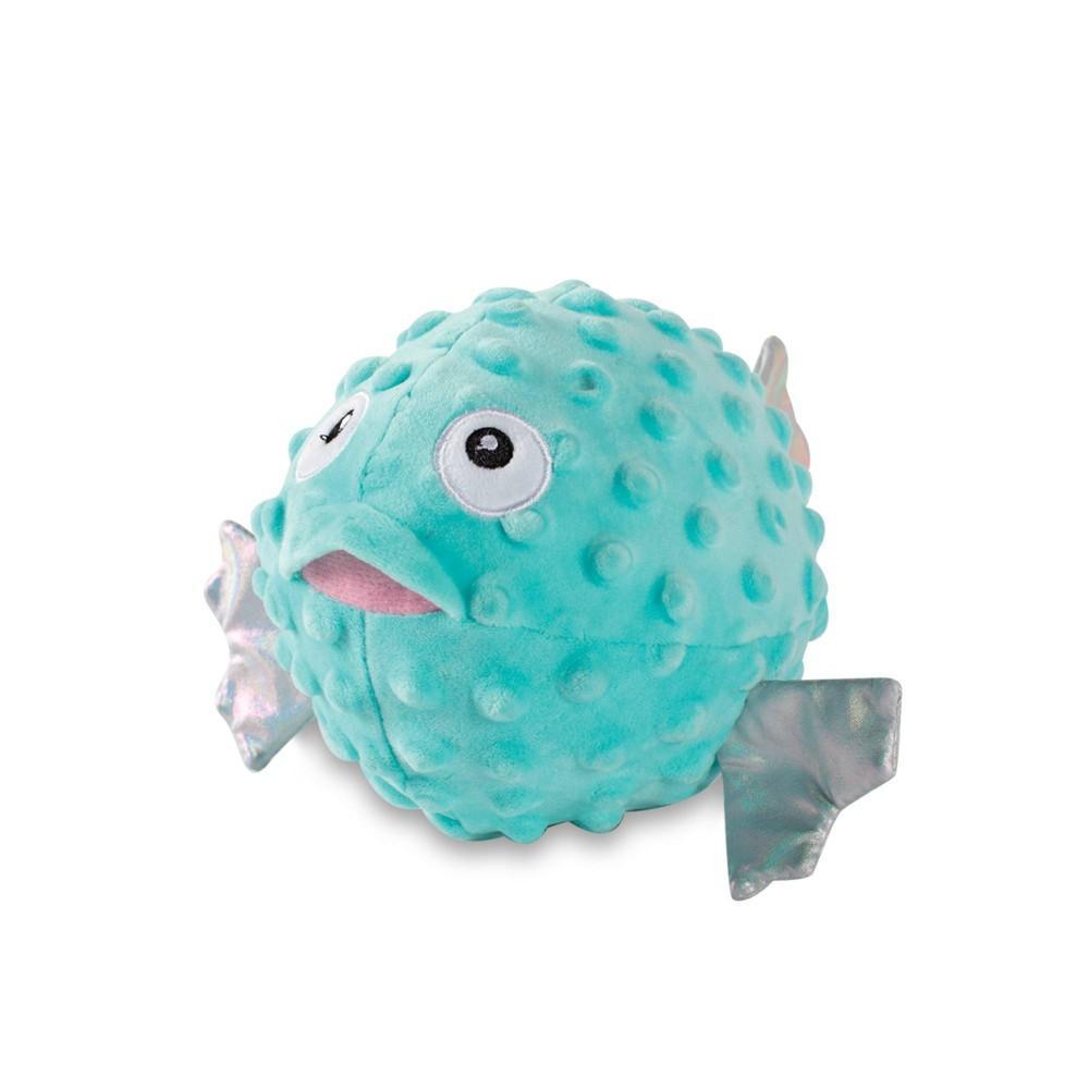 Petshop By Fringe Studio Puffed Up Puffer Fish Dog Toy