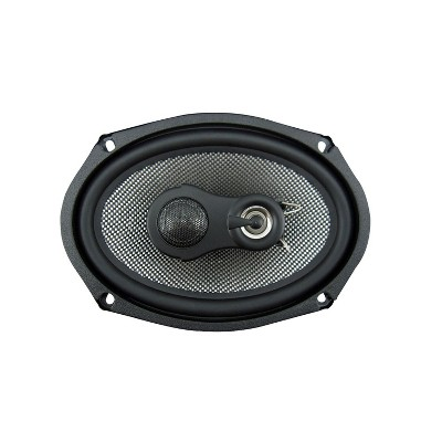 American Bass SQ 6.9 Coaxial 3 Way 6.9 Inch 20 Ounce Neodymium Swivel Tweeter Speaker with Woven Carbon Glass Fiber Cone and Butyl Rubber Surround