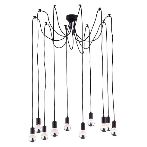 "Neo-Classical Black Wire Adjustable 39"" Ceiling Lamp - ZM Home - image 1 of 5"