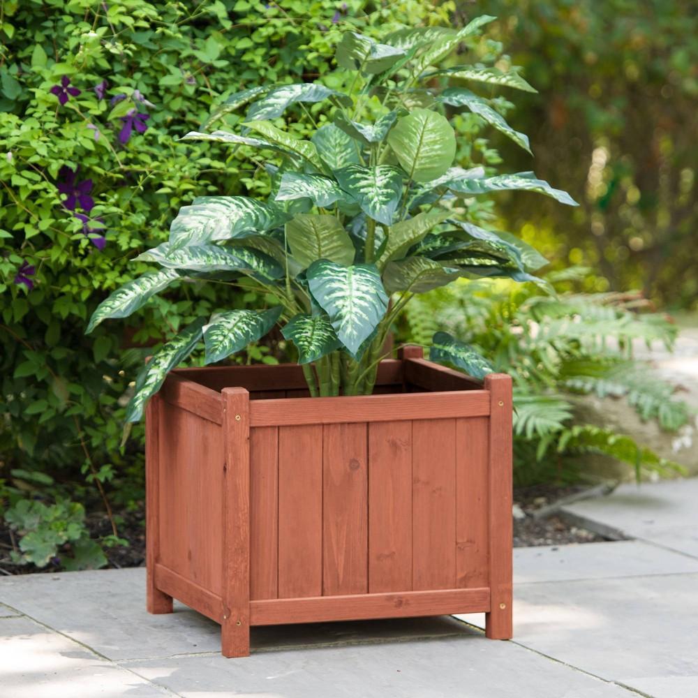 Square Planter Box - Brown - Leisure Season