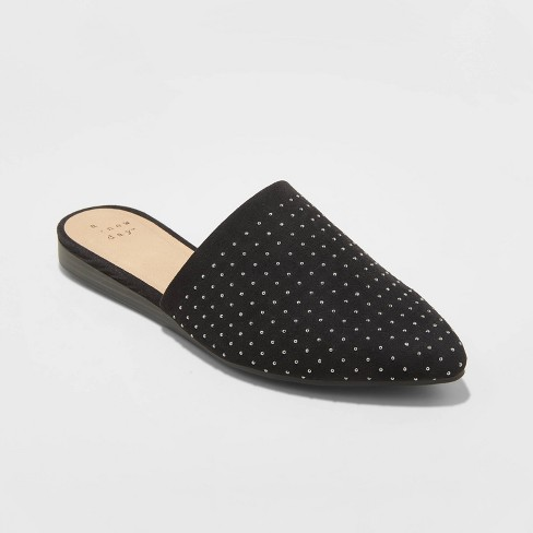 Women's Lina Studded Mules - A New Day™ - image 1 of 3