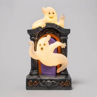 Lit Tombstone with Ghost Halloween Decorative Scene Prop - Hyde & EEK! Boutique™