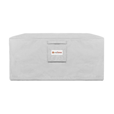 Baltic Square Fire Pit Cover Gray - Real Flame