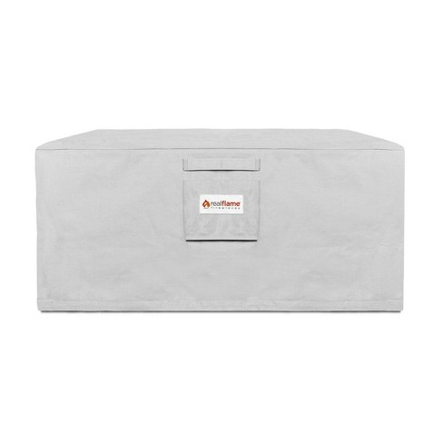 Baltic Square Fire Pit Cover Gray - Real Flame - image 1 of 4