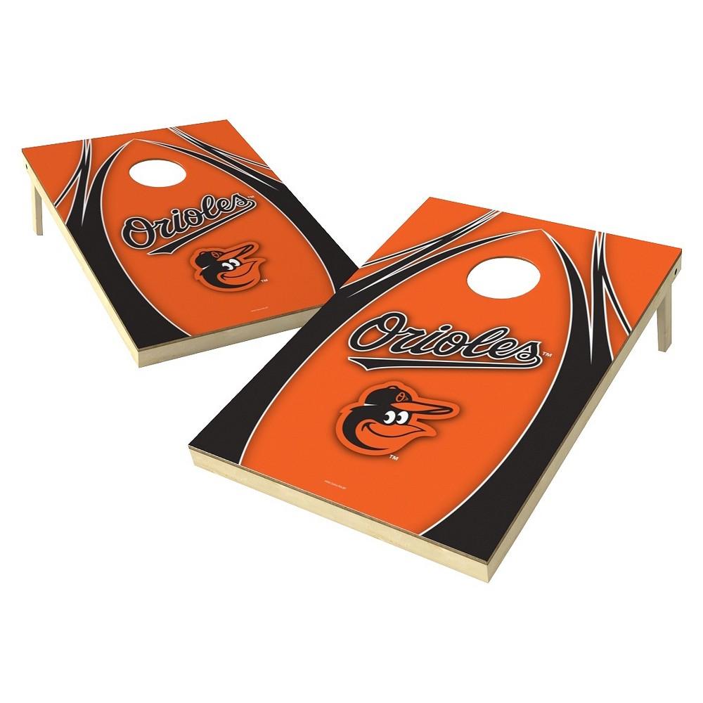 Baltimore Orioles Wild Sports V Logo Shield Cornhole Bag Toss Set - 2x3 ft.