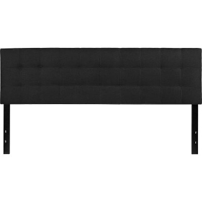King Quilted Tufted Upholstered Headboard Black - Riverstone Furniture
