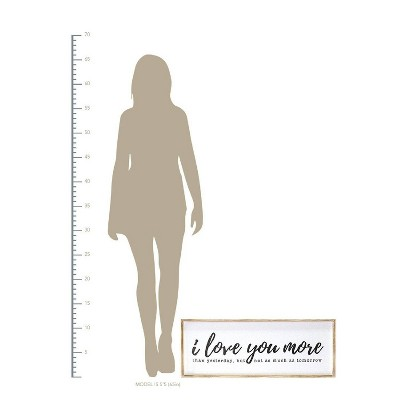 """I love you more"" Oversized Wall Art White - Stratton Home Decor"
