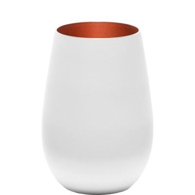 16.5oz 2pk Glass Olympia Tumbler Drinkware Set White/Bronze - Stolzle Lausitz