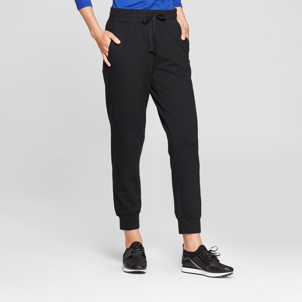 Women's Knit Jogger Pants - A New Day Black S