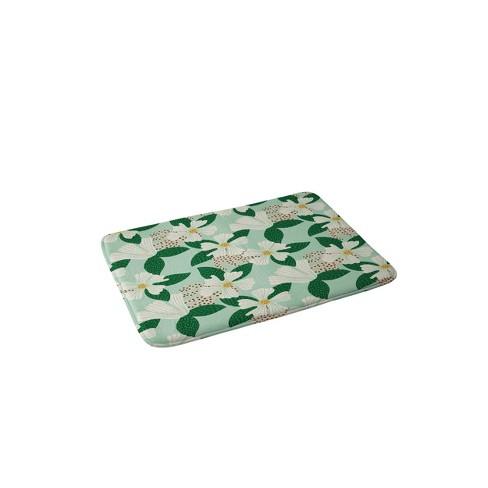 Hello Sayang Urban Jungle Hibiscus Memory Foam Bath Mat Green Deny Designs Target