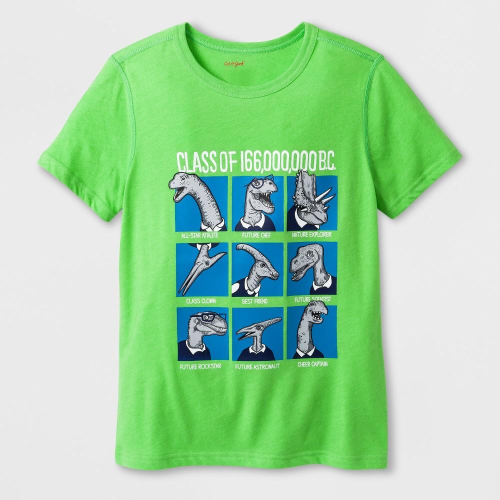 Boys' Adaptive Short Sleeve Dino Class Graphic T-Shirt - Cat & Jack Green XS