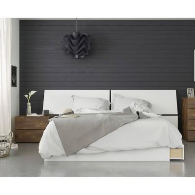 3pc Queen Arcadia Bedroom Set Brown/White - Nexera
