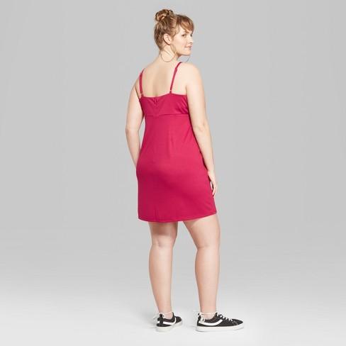 6dbb203bd6cdd Women s Plus Size Strappy Knit Dress - Wild Fable™ Pink 2X   Target