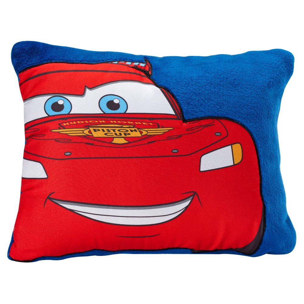 "Image of ""Cars Red & Blue Throw Pillow (16""""x12"""")"""