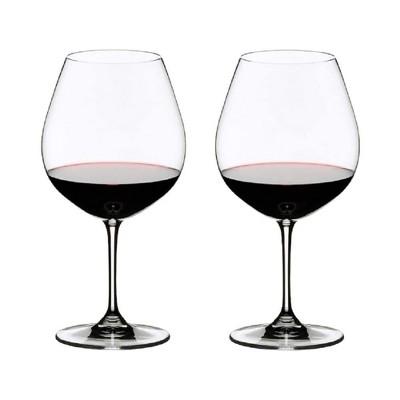 Riedel 6416/07 VINUM Stemmed Pinot Noir Crystal Red Wine Dishwasher Safe Glassware, Set of 2, Clear