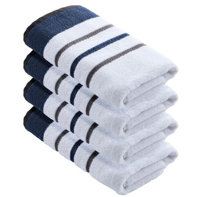 Great Bay Home 100% Cotton Striped Towel Set
