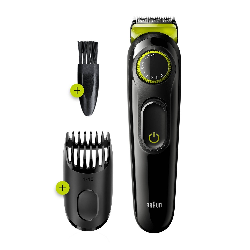 Image of Braun BT3221 Men's Rechargeable 20-Setting Electric Beard & Hair Trimmer