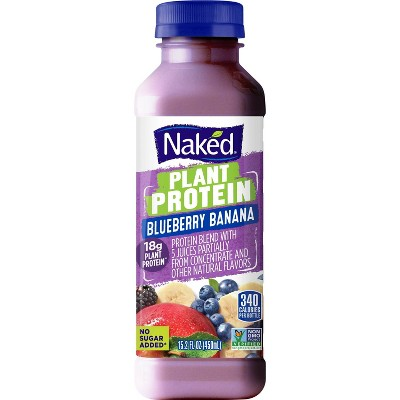 Naked Juice Plant Protein Blueberry Banana - 15.2 fl oz