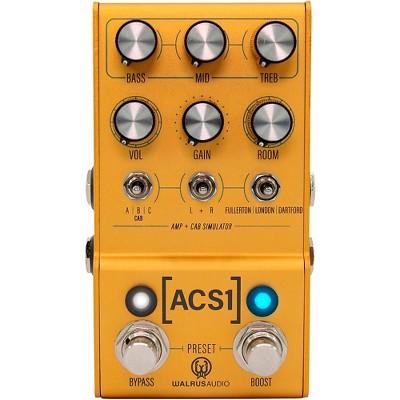 Walrus Audio MAKO Series ACS1 Amp + Cab Simulator Effects Pedal Gold