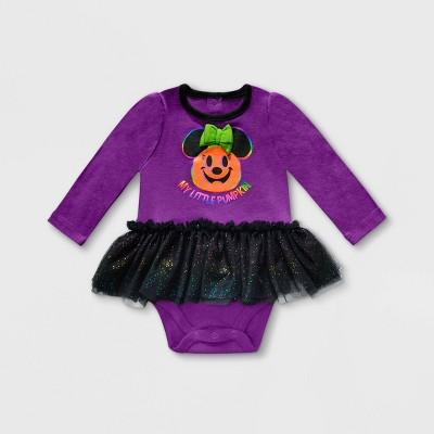 Baby Girls' Disney Minnie Mouse Bodysuit - Purple - Disney Store