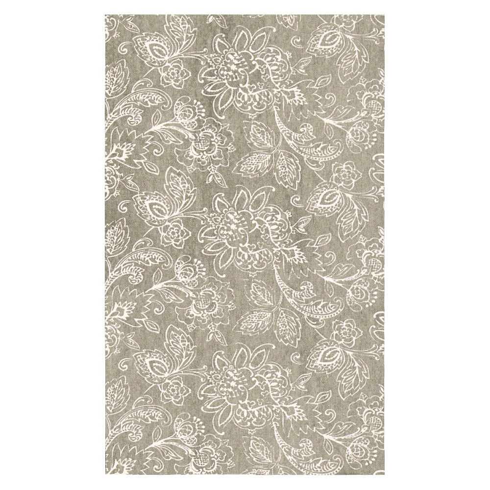 Waverly Floral Flatweave Accent Rug - Gray (2'3