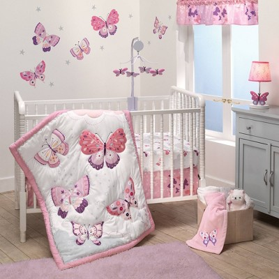 Bedtime Originals Butterfly Kisses Crib Bedding Set - 3pc