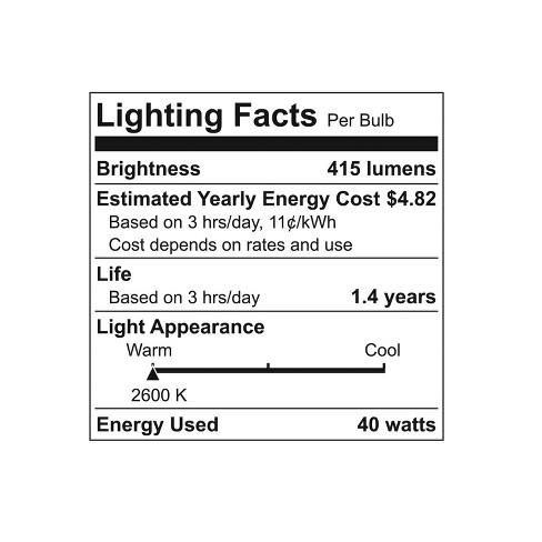 GE 40-Watt Ceiling Fan Halogen Light Bulb (2-Pack) - Soft
