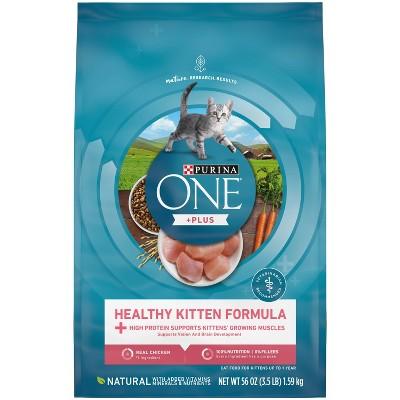 Purina ONE Healthy Kitten Formula Premium Dry Cat Food - 3.5lbs