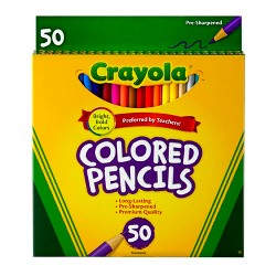 Crayola 50ct Colored Pencils Assorted Colors