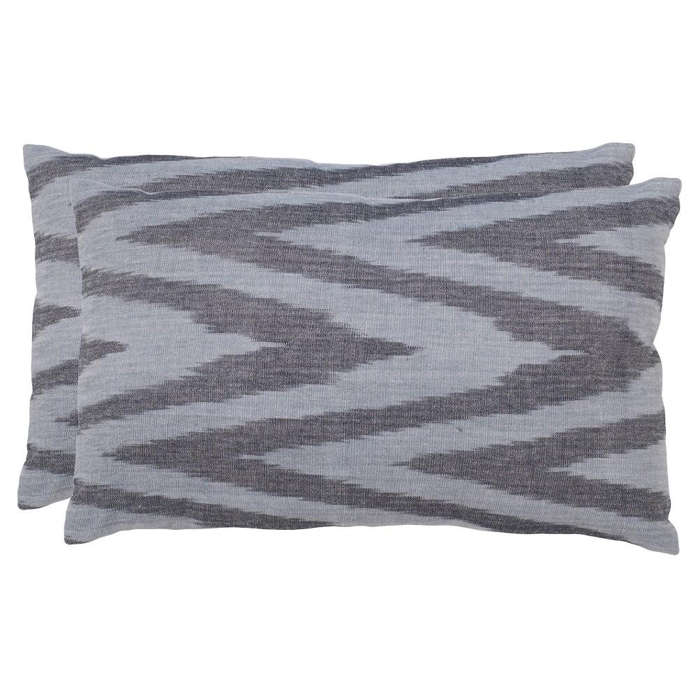 Silver Chevron Throw Pillows (2 Pack) (12