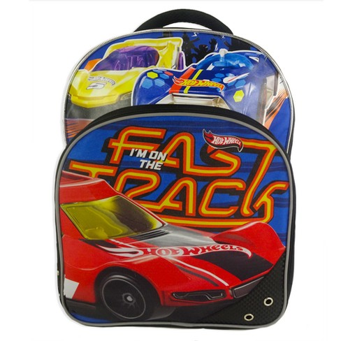 "Hot Wheels 16"" Kids' Backpack with Car - Red/Blue - image 1 of 6"