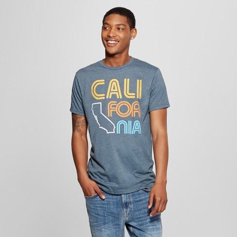 042c16318d95df Men's Short Sleeve Cali-For-Nia Graphic T-Shirt - Awake Navy : Target