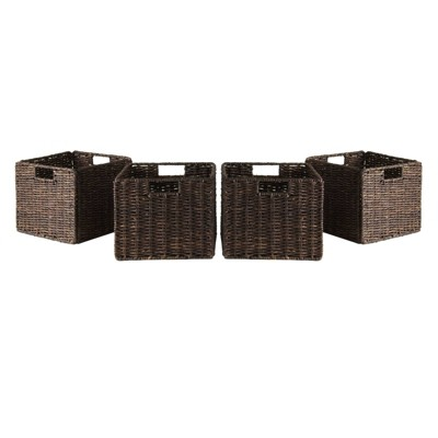 Granville 4 Piece Set Small Baskets - Chocolate - Winsome
