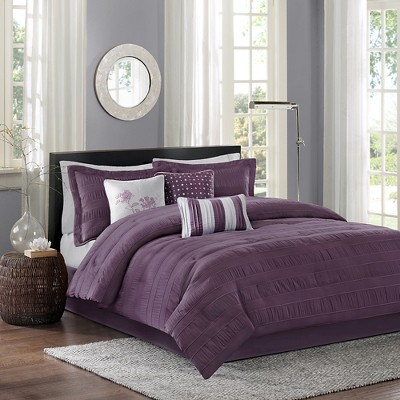 Plum Cullen Comforter Set California King 7pc