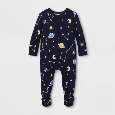 Baby Astrology Family Pajama Footed Sleeper - Blue 3-6M