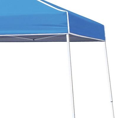 Z-Shade 10' x 10' Angled Leg Canopy & 4 Taffeta Sidewall Accessory Packs, Blue
