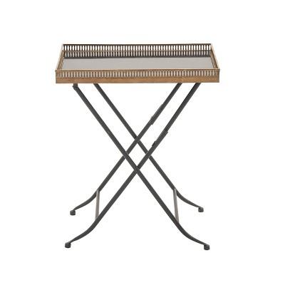 Traditional Folding Tray Table Gold - Olivia & May