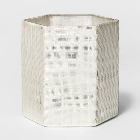 Glass Hurricane Pillar Candle Holder White - Threshold™ - image 1 of 2