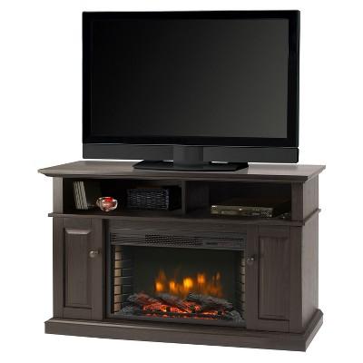 "Delaney 48""Media Fireplace Rustic Brown - Muskoka"