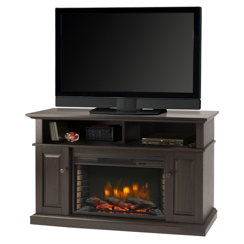 "Image of ""Delaney 48""""Media Fireplace Rustic Brown - Muskoka"""