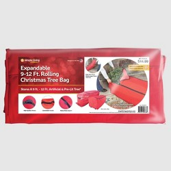 9-12' Expandable Rolling Tree Storage Bag Red - Simple Living Innovations