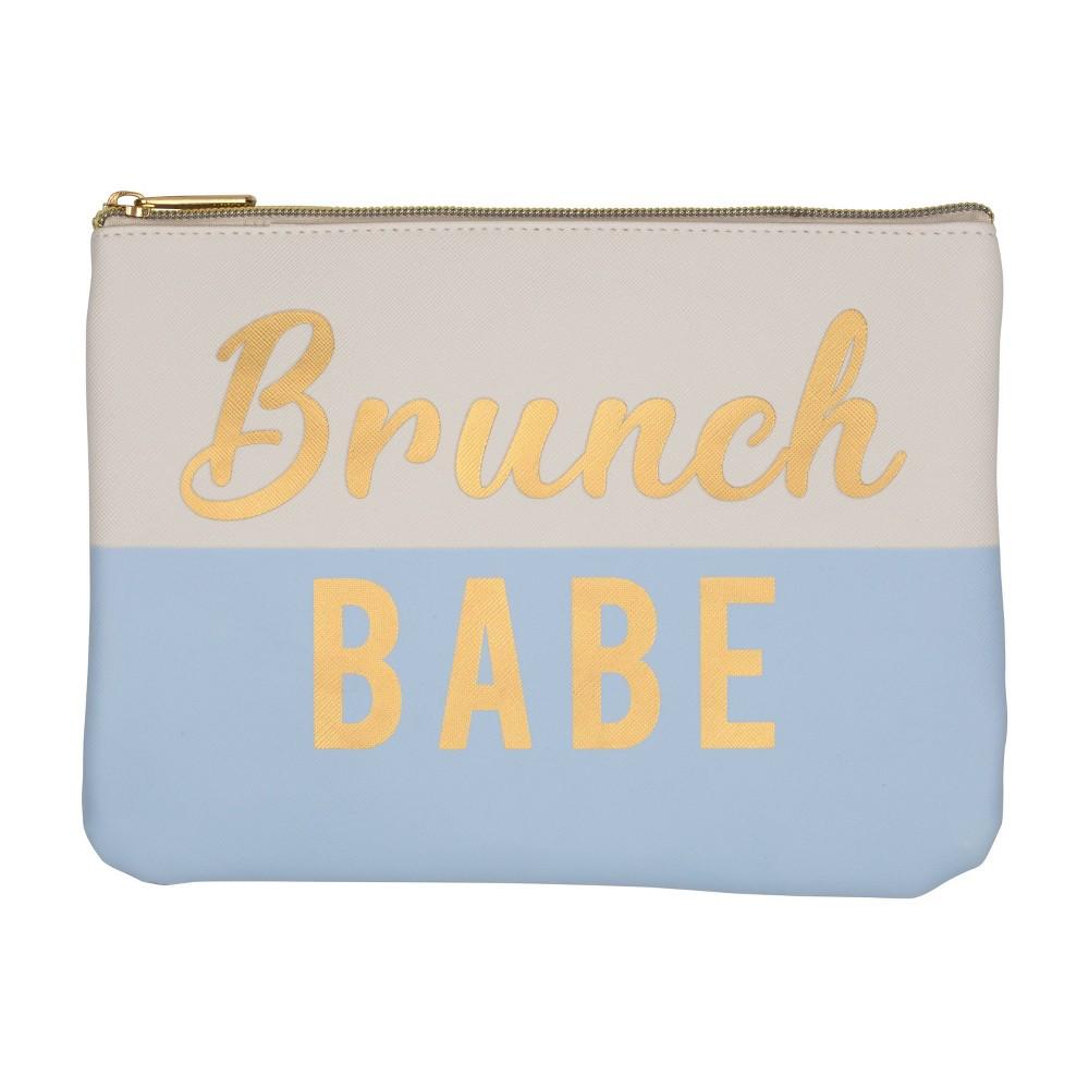 Image of Ruby+Cash Faux Leather Makeup Bag & Organizer - Brunch Babe Color Block